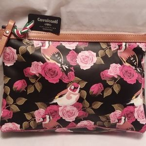 Cavalcanti Leather Clutch Purse NWT Made in Italy